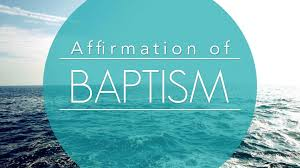 baptism affirmation